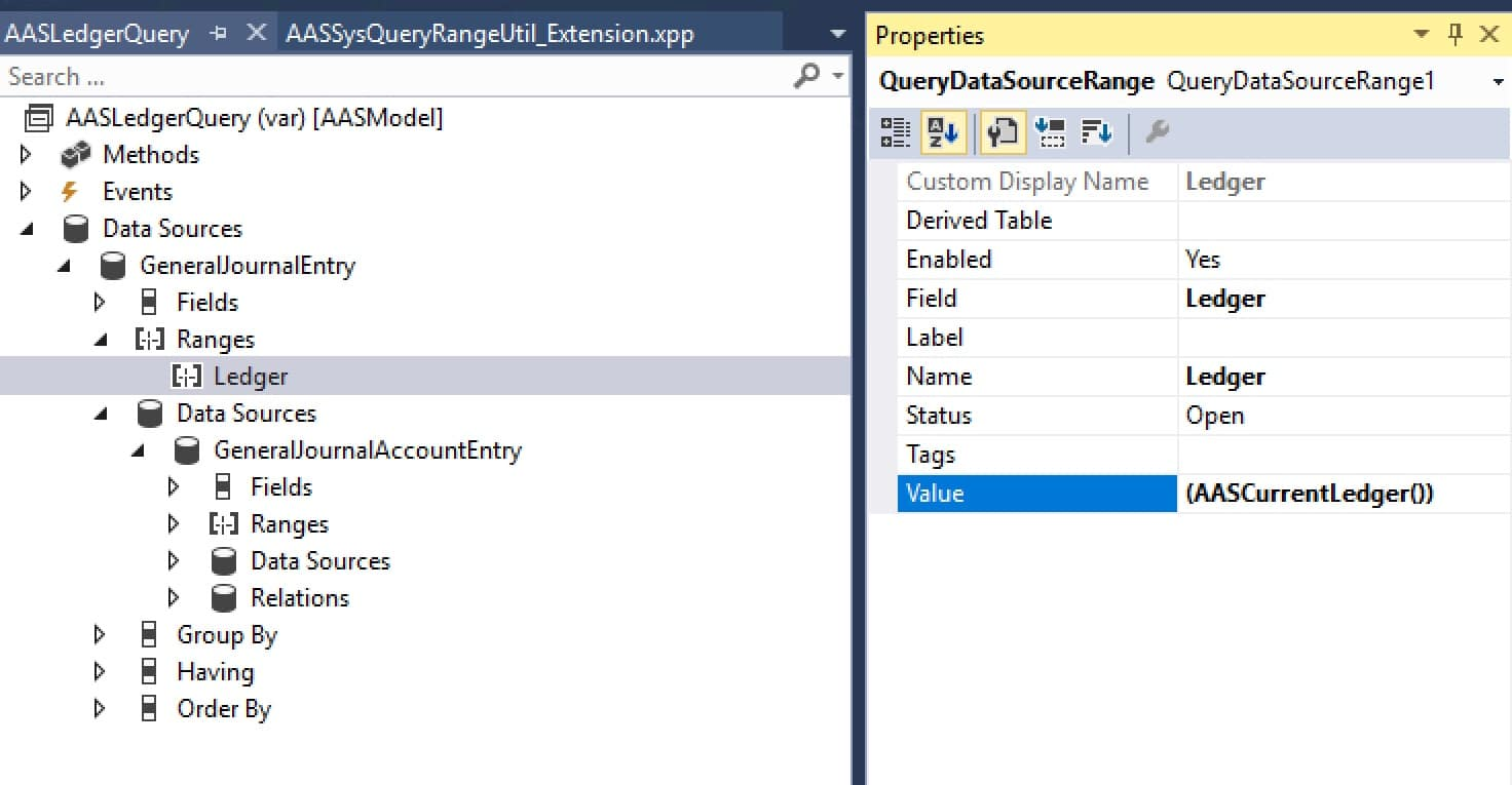 Query en Visual Studio