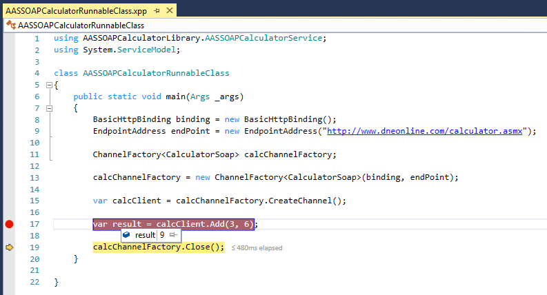 Consume a SOAP web service in Dynamics 365 for Finance and Operations using ChannelFactory 11