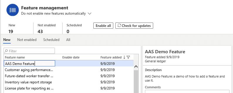 Feature management: create a custom feature 2