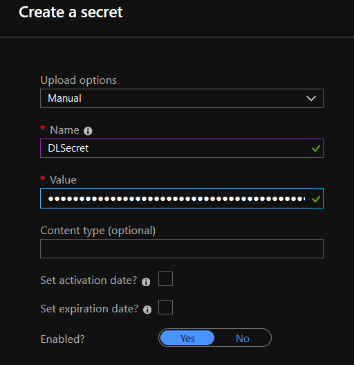 Setup Entity Store's export to Azure Data Lake storage 8