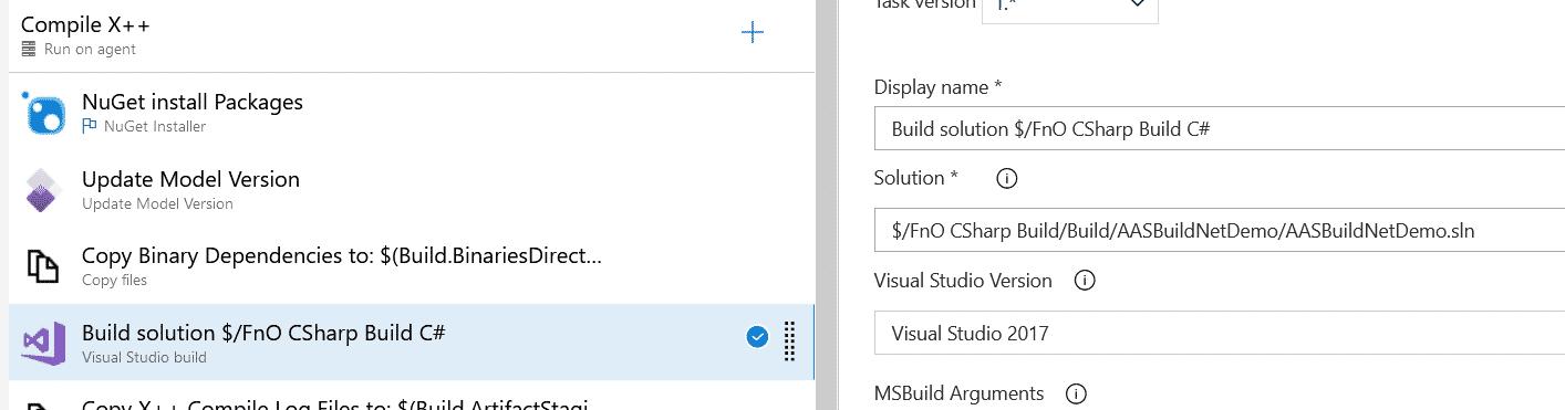 Añade y compila proyectos .NET a tu pipeline de Dynamics 365 9